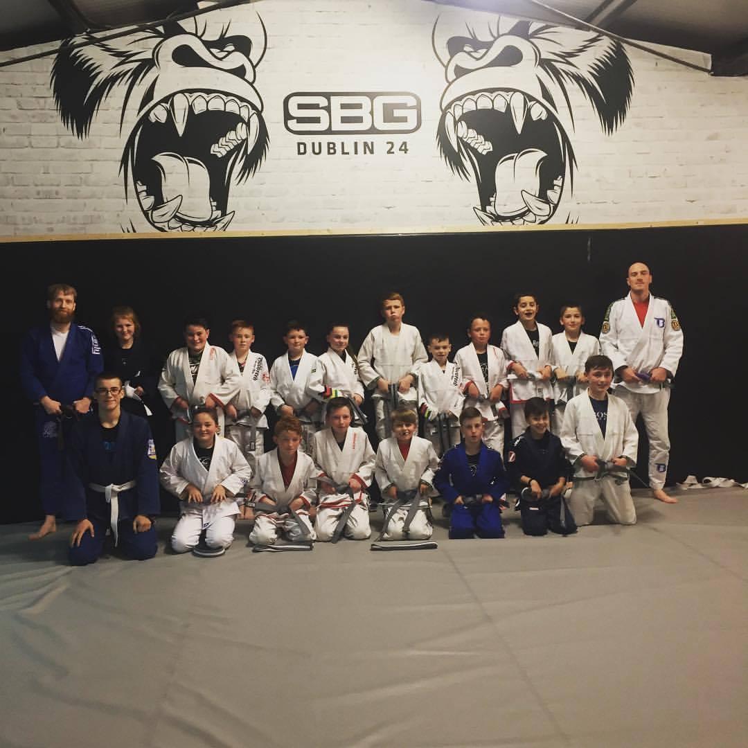 Kids martial arts grading in SBG Dublin24