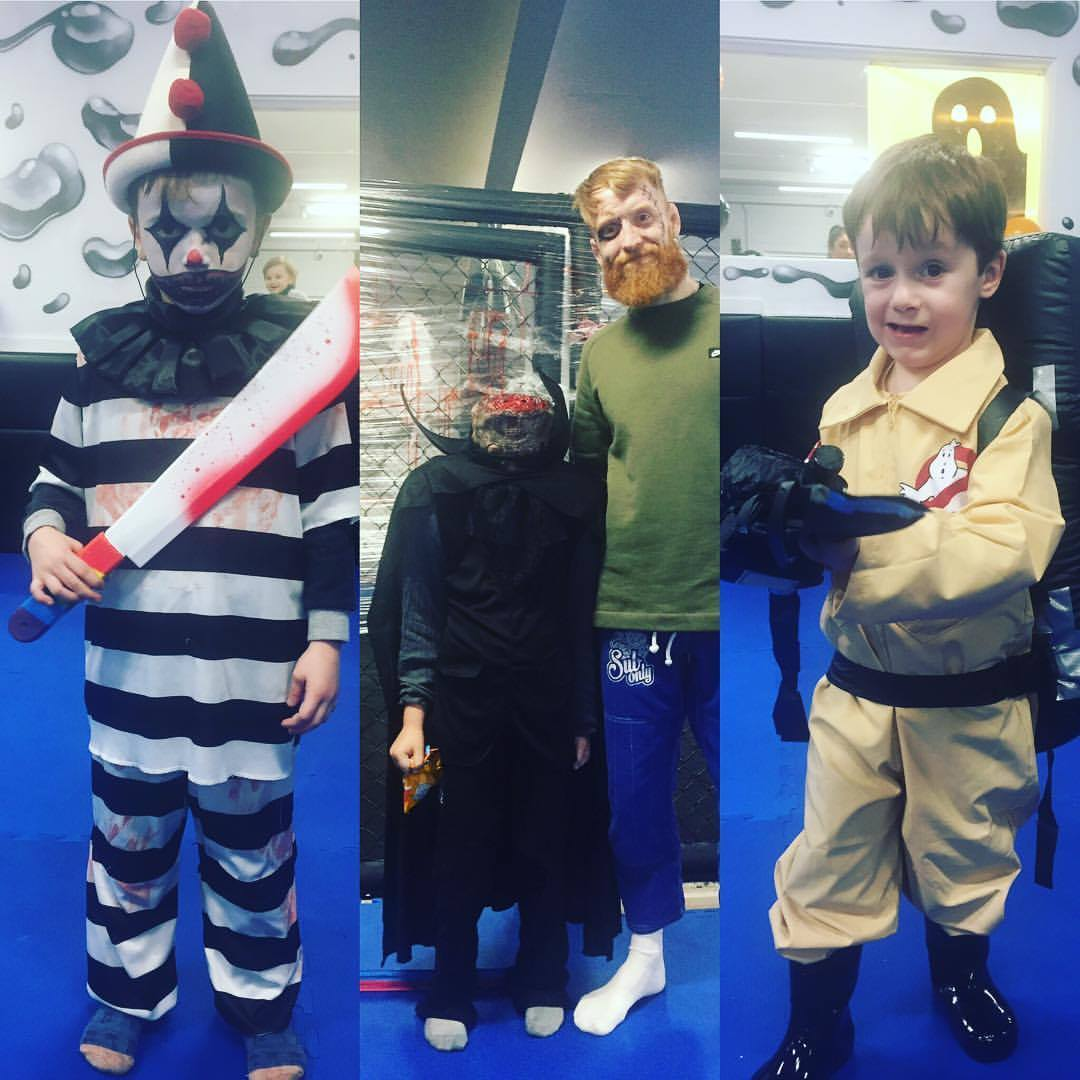 Halloween party in the kids martial arts classes in SBG Dublin24